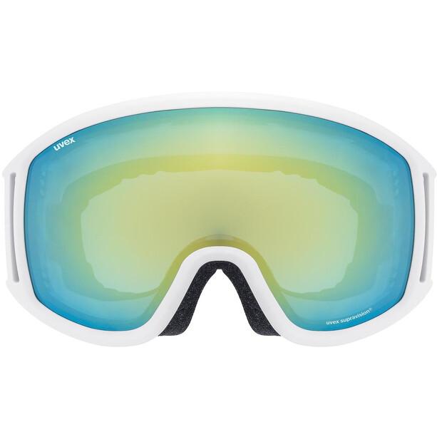 UVEX Topic FM sphere Goggles white mat/mirror orange