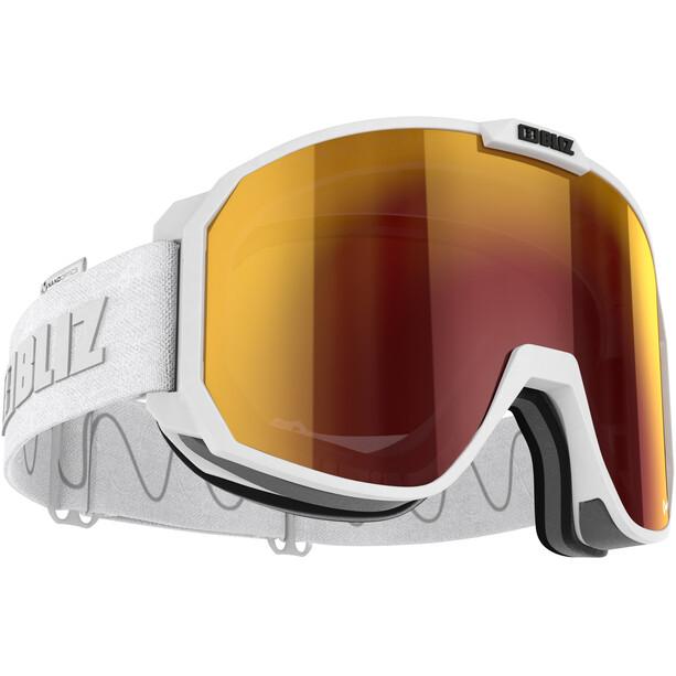 Bliz Split Nano Optics Goggles matt white/brown-red multi