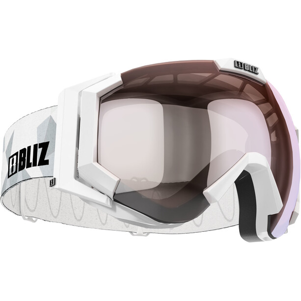 Bliz Carver Goggles white-black/orange-silver mirror