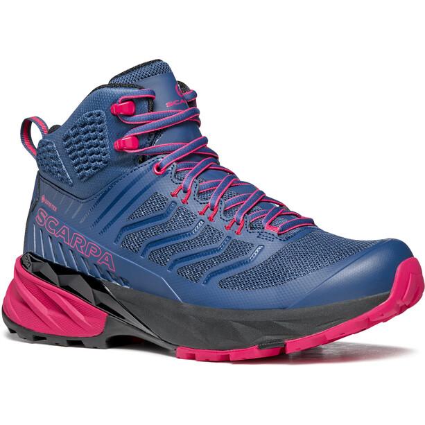 Scarpa Rush Mid GTX Schuhe Damen blue/fuxia