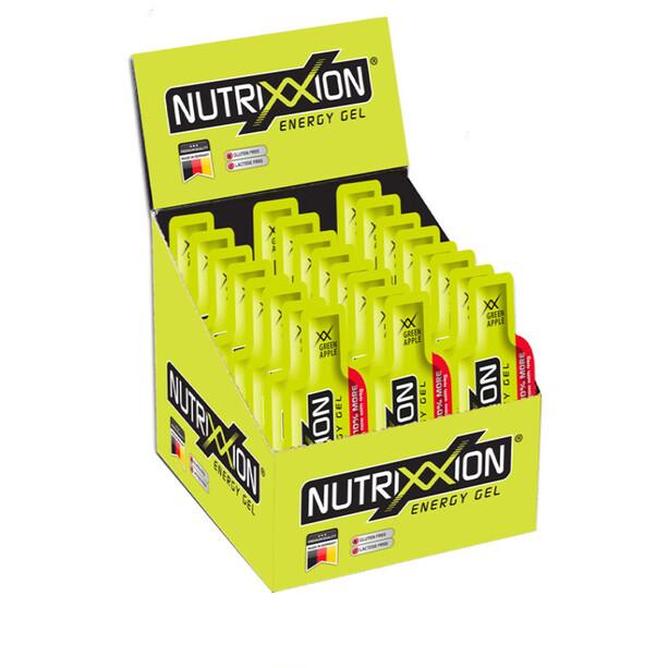 Nutrixxion Sachets Gels énergétiques Avec caféine 24 x 44g, Green Apple