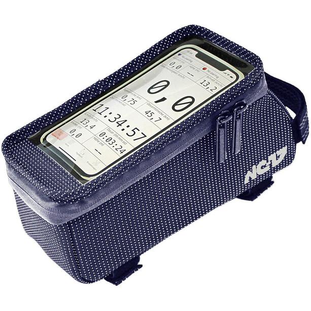 NC-17 Connect Seitenlader Smartphone Oberrohrtasche XL blue dot