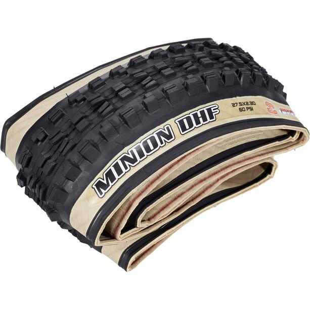 "Maxxis Minion DHF Tanwall Folding Tyre 27.5x2.50"" WT EXO TR Dual"