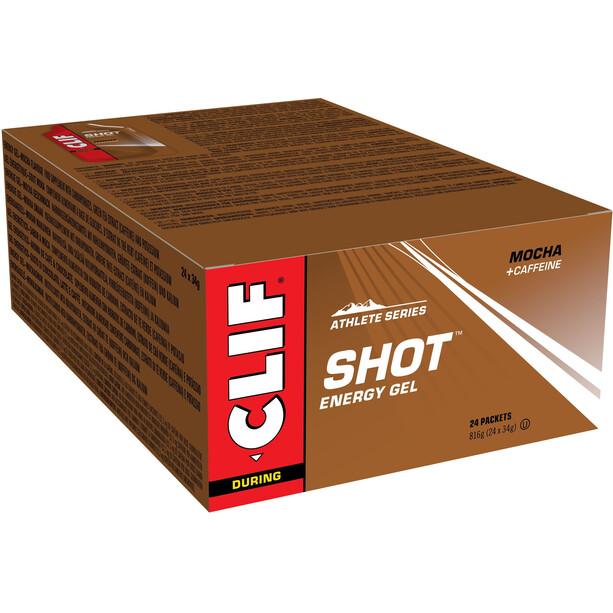 CLIF Bar Shot gel boks 24 x 34g, Mocha with Caffeine