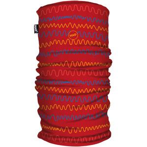 HAD Printed Fleece Loop Sjaal Kinderen, rood rood