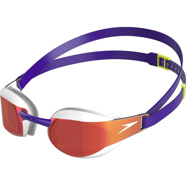 speedo Fastskin Elite Mirror Lunettes de protection, violet/white/red gold