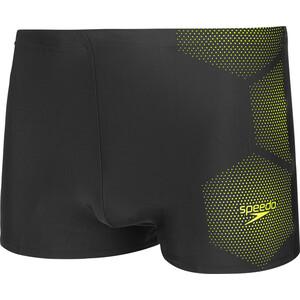 speedo Tech Placement Aquashorts Herren tech black/fluo yellow tech black/fluo yellow