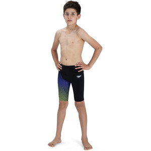 speedo Fastskin Endurance+ High Waisted Jammer Boys black/violet/fluo yellow black/violet/fluo yellow