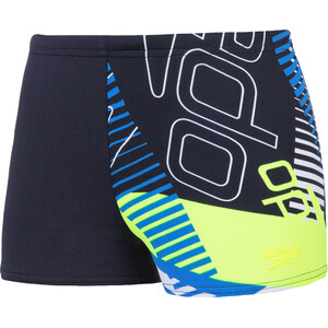 speedo Allover Aquashorts Jungen revival navy/bondi blue/fluo yellow revival navy/bondi blue/fluo yellow