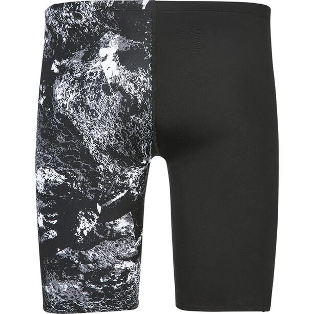 speedo Allover V-Cut Jammer Herren crater black/white