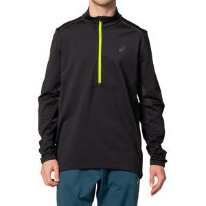 asics Lite-Show Winter Langarm 1/2 Zip Oberteil Herren performance black/graphite grey performance black/graphite grey