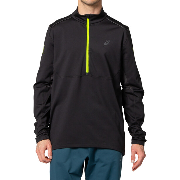 asics Lite-Show Winter Langarm 1/2 Zip Oberteil Herren performance black/graphite grey