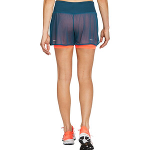 "asics Ventilate 2-N-1 3,5"" Shortsit Naiset, magnetic blue/flash coral magnetic blue/flash coral"