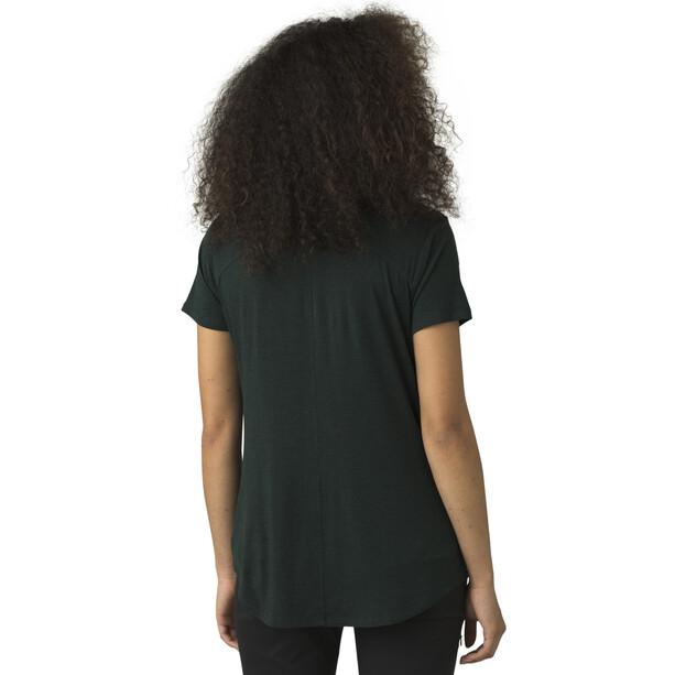 Prana Foundation Kurzarm V-Ausschnitt Shirt Damen batik heather