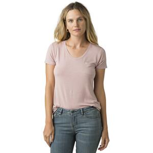 Prana Foundation Kurzarm V-Ausschnitt Shirt Damen rosette heather rosette heather