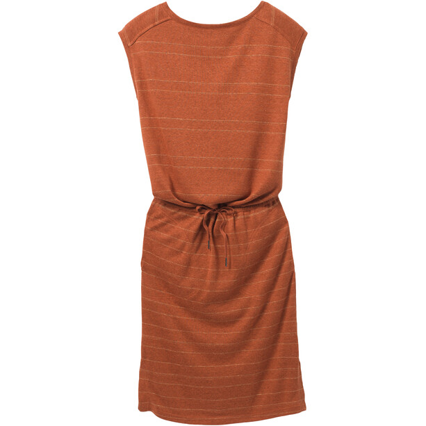 Prana Caris Cozy Up Kleid Damen cedar heather stripe