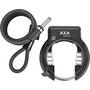 Axa Solid Plus Frame Lock + Newton PI150, musta