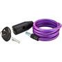 Axa Zipp Antivol à câble spiralé Ø8mm 120cm, violet