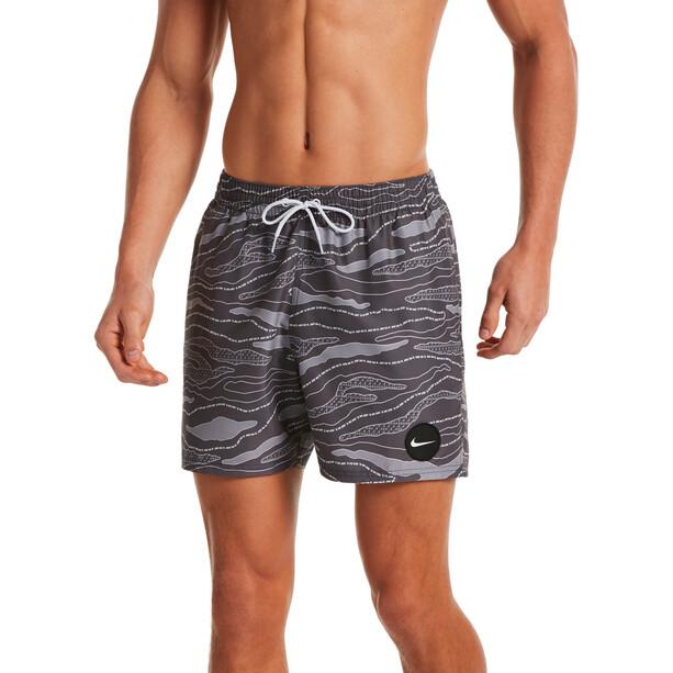 Nike Swim 6:1 Stripe Short Volley 5'' Homme, noir/gris