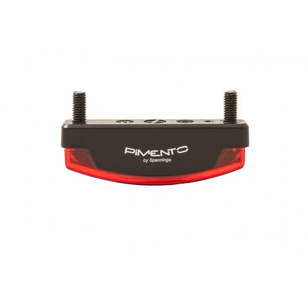 spanninga Pimento XE Rücklicht E-Bike 6.36VDC + RR02 Reflektor + BR06 black