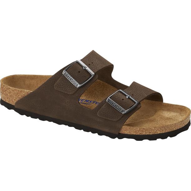 Birkenstock Arizona Sandals Soft Footbed Regular Men tumbuling buck soft brown