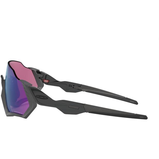 Oakley Flight Jacket Lunettes de soleil Femme, matte steel/prizm road jade