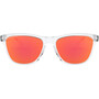 Oakley Frogskins XS Sonnenbrille Jugend polished clear/prizm ruby
