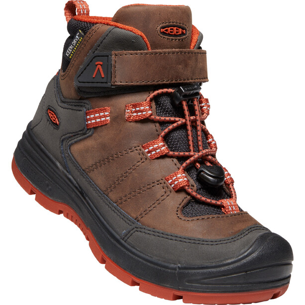 Keen Redwood Mid WP Schuhe Jugend coffee bean/picante