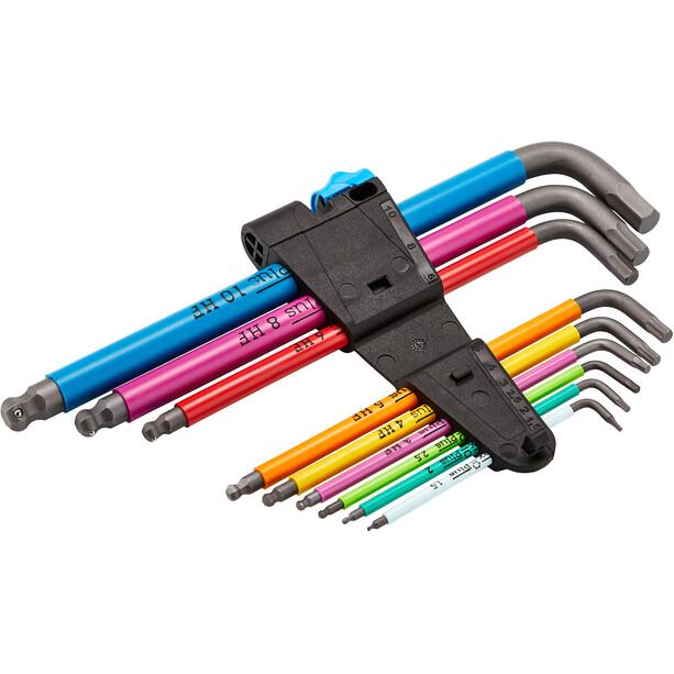 Wera 950 Hex-Plus Multicolour Winkelschlüssel-Set mit 9 Teilen inkl. Haltefunktion