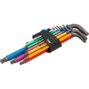 Wera 950 Hex-Plus Multicolour L-Key Set with 9 Pieces incl. Holding Function