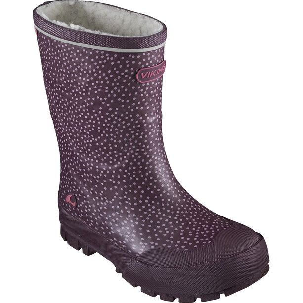 Viking Footwear Jolly Thermo Print Gummistiefel Kinder bordeaux