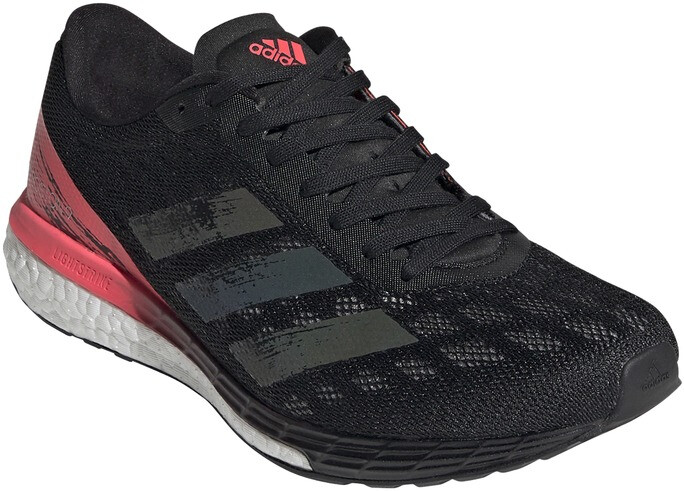 adidas Adizero Boston 9 Schuhe Damen core black/core black/signal pink