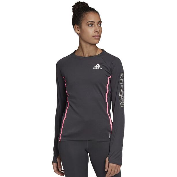 adidas Reflective Langarmshirt Damen black