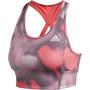adidas D2M AOP BT Sport BH Damen signal pink/white