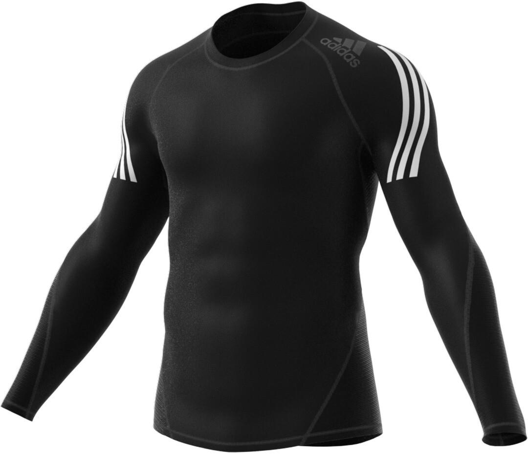 Herren Training Langarmshirt in schwarz von adidas günstig