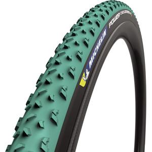 "Michelin Power Cyclocross Mud フォールディングタイヤ 28x1.30"" TS チューブレスレディ グリーン/ブラック"