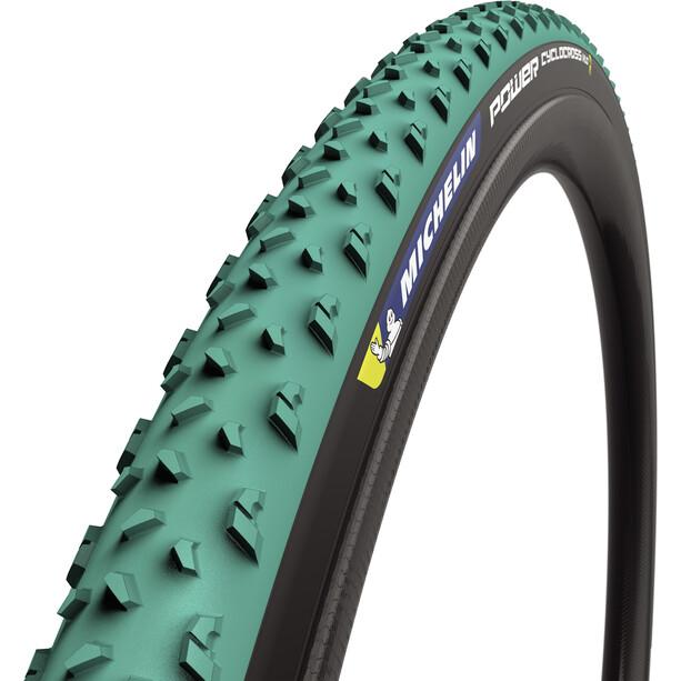 "Michelin Power Cyclocross Mud Faltreifen 28x1.30"" TS TLR green/black"