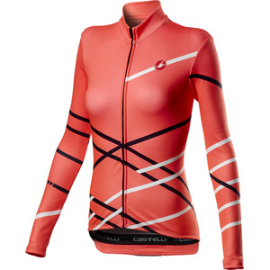 Castelli Diagonal Full-Zip Langarm Trikot Damen brilliant pink brilliant pink