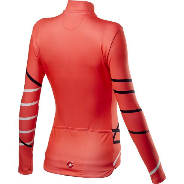 Castelli Diagonal Full-Zip LS Jersey Women brilliant pink