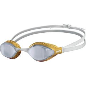 arena Airspeed Mirror Schwimmbrille weiß/gold weiß/gold