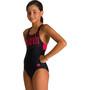 arena Spotlight Swim Pro Back One Piece Badeanzug Mädchen black/fluo red