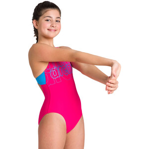 arena Spotlight Swim Pro Back One Piece Badeanzug Mädchen freak rose/turquoise freak rose/turquoise