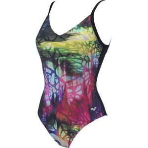 arena Grace U Back Maillot de bain une pièce Bonnet C Femme, Multicolore/noir Multicolore/noir