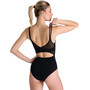arena Esther Cross Back One Piece Badeanzug Damen black/black