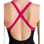 arena Leila Embrace Back One Piece Badeanzug Damen black/calypso
