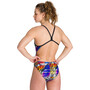 arena Iridiscent Stripe Challenge Back One Piece Badeanzug Damen bunt