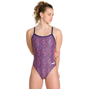 arena Kikko Challenge Back One Piece Badeanzug Damen navy/multi red navy/multi red