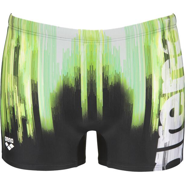 arena Drawing Shorts Herren schwarz/grün
