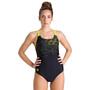 arena Lightning Swim Pro Back One Piece Badeanzug Damen black/soft green