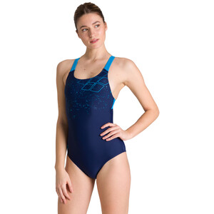 arena Lightning Swim Pro Back One Piece Badeanzug Damen navy/turquoise navy/turquoise